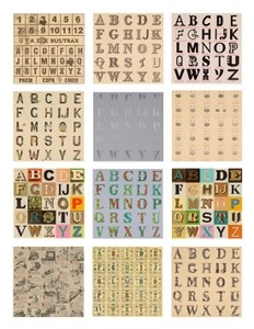 Appropriated Alphabets (Set of 12)